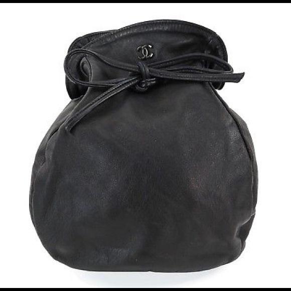 378c02ee1afa1a CHANEL Bags   Black Leather Cc Logo Hand Bag Pouch   Poshmark